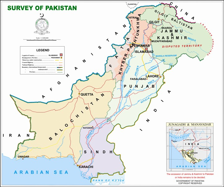 Pakistan Objects To Indias Map Bill But Its Own Law - Map pakistan