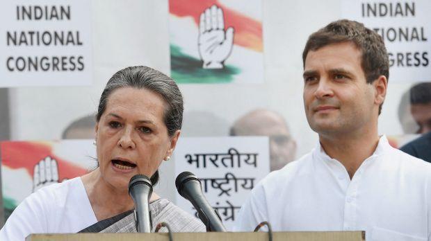 File photo of Sonia Gandhi and Rahul Gandhi. Credit: PTI