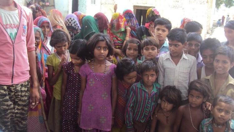 Women and children in Kainthora.