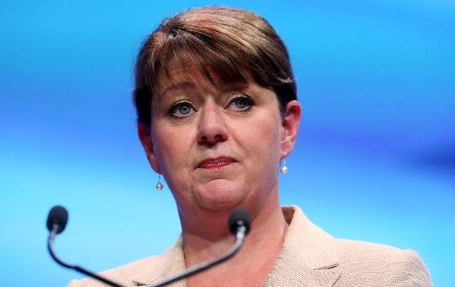 Leader of Plaid Cymru Leanne Wood speaks during the Scottish National Party's (SNP) annual conference in Aberdeen, Scotland, October 17, 2015. REUTERS/Russell Cheyne/Files