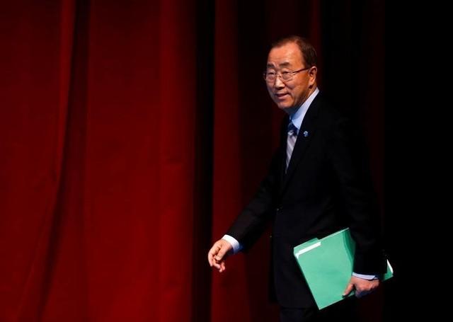 UN Secretary-General Ban Ki-moon in Istanbul, Turkey, May 24, 2016. Credit: Reuters/Murad Sezer