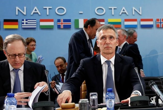 NATO Secretary-General Jens Stoltenberg chairs a NATO defence ministers meeting at the Alliance headquarters in Brussels, Belgium, June 14, 2016. Credit: Reuters/Francois Lenoir