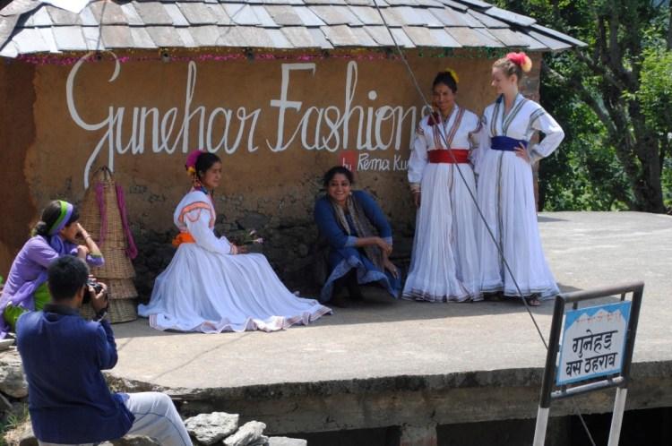 Rema Gupta's textiles and garments shop in Gunehar village, Himachal Pradesh, set up for the SA/AS 2 festival. Gupta makes village designs contemporary. Credit: 4 Tables
