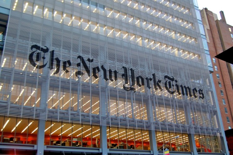 The New York Times headquarters. Credit: Wikimedia Commons.