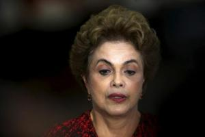 Brazil's President Dilma Rousseff attends a news conference at the Planalto Palace in Brasilia, Brazil March 16, 2016. Credit: Reuters/Adriano Machado