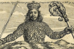 From the frontispiece Thomas Hobbes' Leviathan (1651). Credit: University of Texas