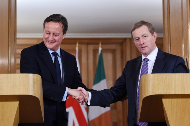 In it together: David Cameron and Enda Kenny. Credit: Andy Rain/EPA