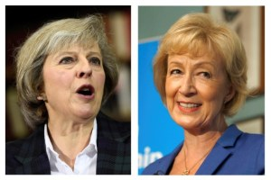 The two remaining candidates in the Conservative party leadership contest, Theresa May (L) and Andrea Leadsom, are seen in this combination of two photographs, released in London, Britain, July 7, 2016. Credit: Reuters/Staff