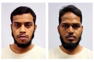 A combination photos shows undated mugshots of four Bangladeshi nationals who were sentenced in a Singapore court, July 12, 2016. From L-R, Rahman Mizanur, Miah Rubel, Md Jabath Kysar Haje Norul Islam Sowdagar, and Sohel Hawlader Ismail Hawlader. Credit: Ministry of Home Affairs/Handout via Reuters