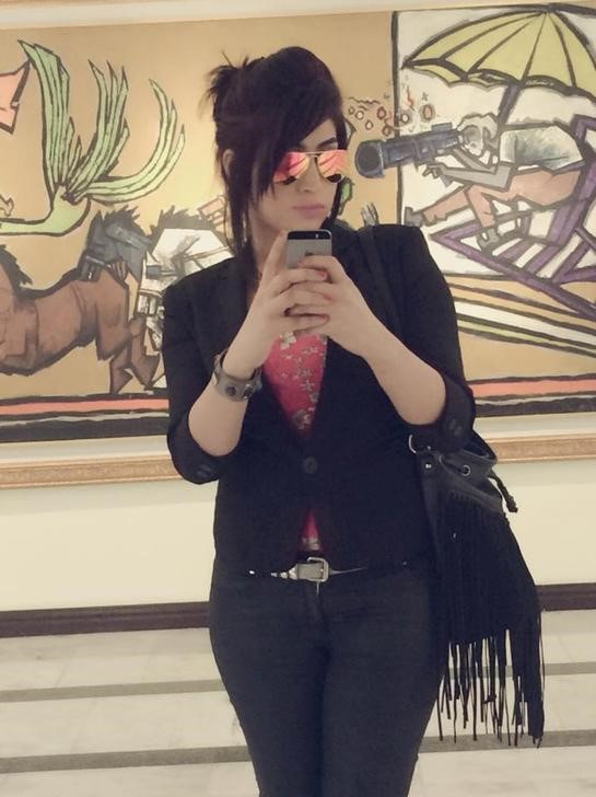 """Social media celebrity Qandeel Baloch, who was strangled in what appeared to be an """"honour killing,"""" in Multan, Pakistan, is pictured in a selfie on her Facebook page. Credit: Qandeel Baloch/Facebook/via Reuters"""