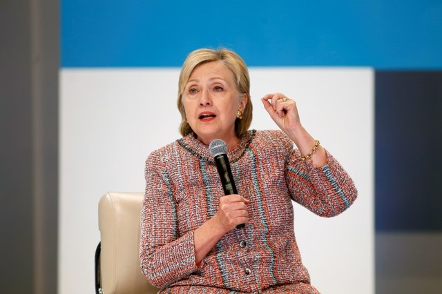 Democratic presidential candidate Hillary Clinton speaks at a town hall discussion with digital content creators in Los Angeles, California, US June 28, 2016. Credit: Reuters/Jonathan Alcorn