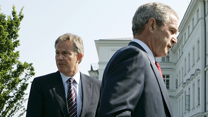 Tony Blair and Geor W. Bush. File photo from 2007. Credit: Reuters