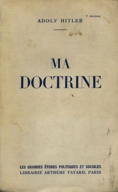 The Fayard edition of 'Ma Doctrine.'