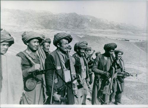 Pro-Soviet villagers in Afghanistan, 1983. Credit: Ebay