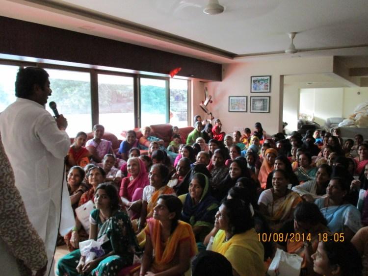 Kadam addressing his 'sisters' on Rakshabandhan.