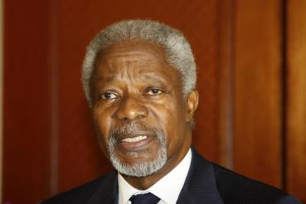 Former UN Secretary-General Kofi Annan will Credit: Reuters