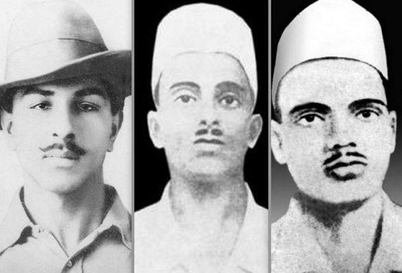Bhagat Singh, Sukhdev and Rajguru.