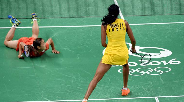 Rio de Janeiro : India's Sindhu Pusarla plays against Japan's Nozomi Okuhara during a women's singles semifinal match at the 2016 Summer Olympics in Rio de Janeiro, Brazil, Thursday. Credit: PTI
