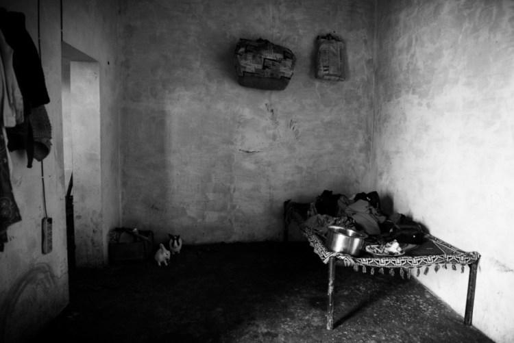 Inside one of the houses in a rehabilitation colony. March 2014, Muzaffarnagar. Credit: Asif Khan