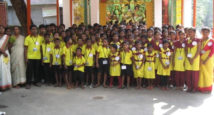 The orphanage celebrates Durga Puja. Credit: Special arrangement