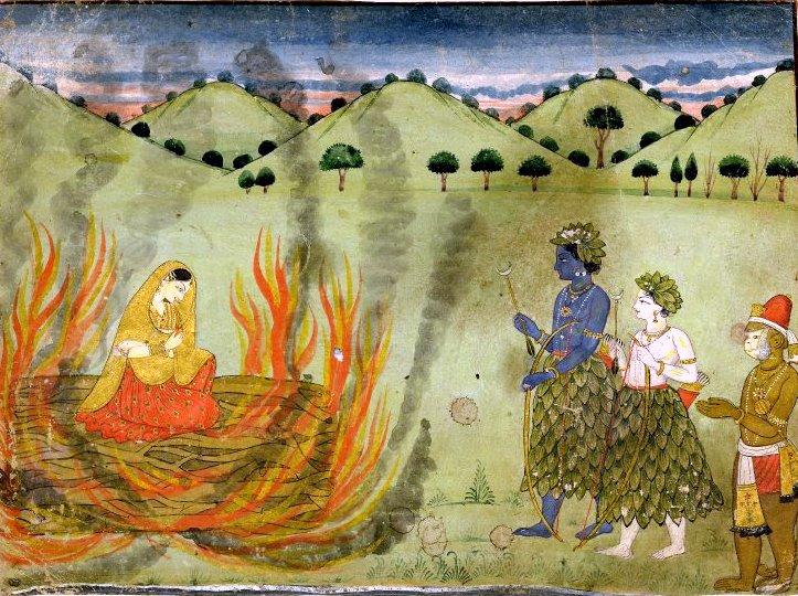 Sita's agni pariksha. Credit: Wikimedia Commons