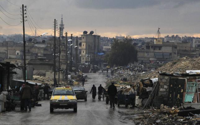 A street in Aleppo. Credit: Reuters/Jalal Al-Mamo