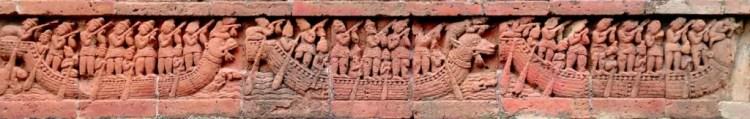 The middle panel of the Jor Bangla frieze. Credit: Pratyay Nath