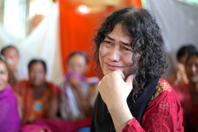 Irom Sharmila in Imphal. Credit: Akhil Kumar
