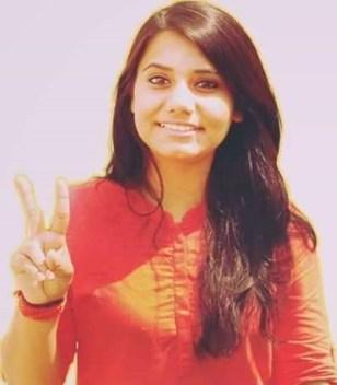 Priyanka Chhawri, ABVP's candidate for joint secretary. Credit: Facebook