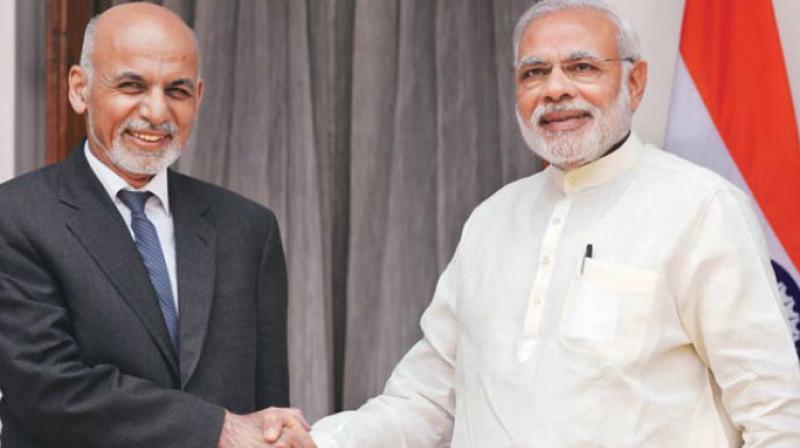 Afghan President Ashraf Ghani and Prime Minister Narendra Modi. Credit: PTI
