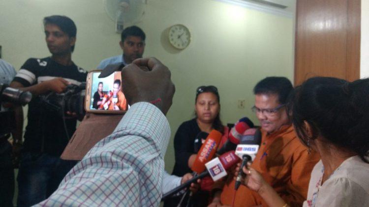 Assam PCC president Ripun Bora speaking to the media in New Delhi on Friday. Credit: Sangeeta Barooah Pisharoty
