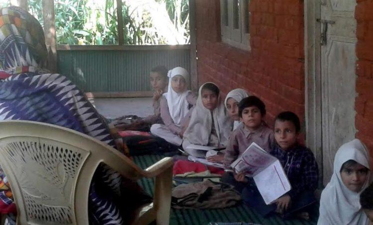 Students at Balkote Primary School. Credit: Mudasir Ahmad