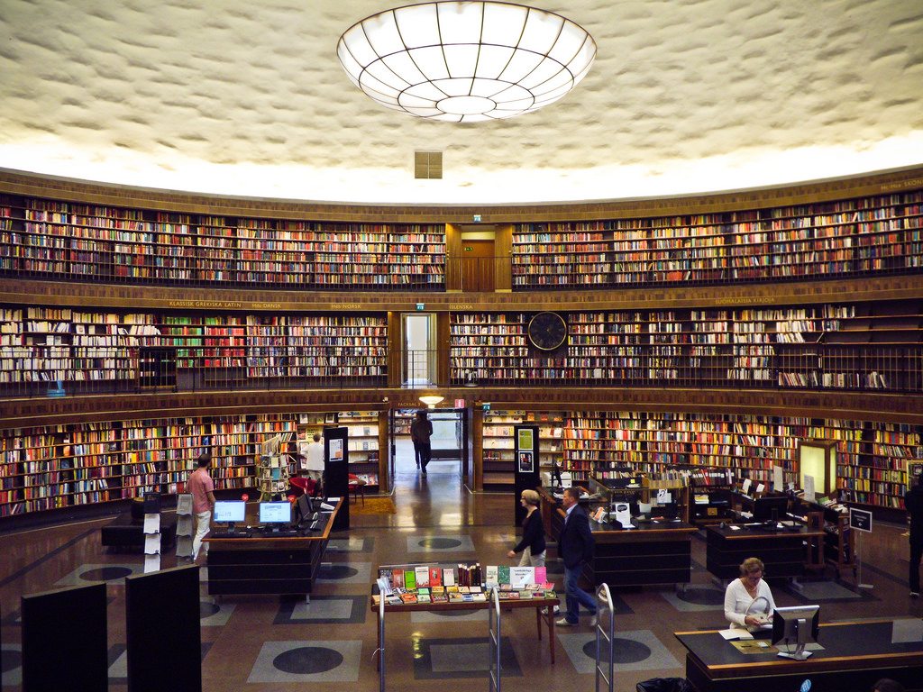 Stockholm's public library. Credit: Samantha Marx/Flickr CC BY 2.0