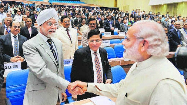 Justice J.S. Khehar with Prime Minister Narendra Modi . Credit: PTI/Files