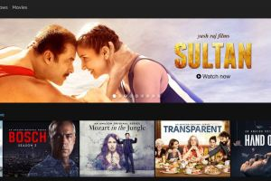 A screenshot of the Amazon Prime Video India homepage. Credit: The Wire