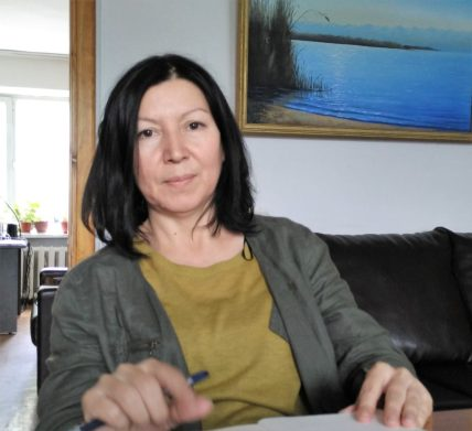 Dinara Oshurahunova, Head of Coalition for Democracy and Civil Society. Credit: M. Reyaz