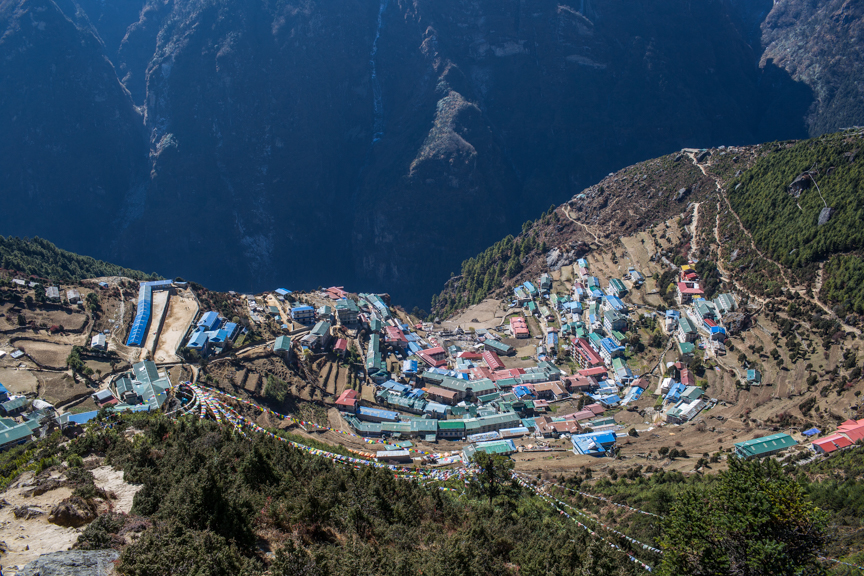 Namche Bazaar, the getway to Everest. Solukhumbu District, Nepal. Credit: Nabin Baral