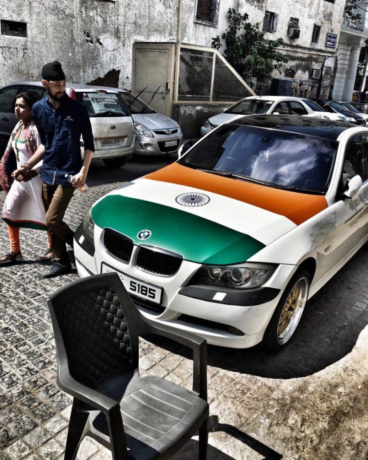 Nationalism on wheels. Credit: Shome Basu