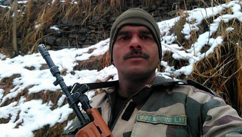 BSF soldier Tej Bahadur Yadav. Credit: Facebook