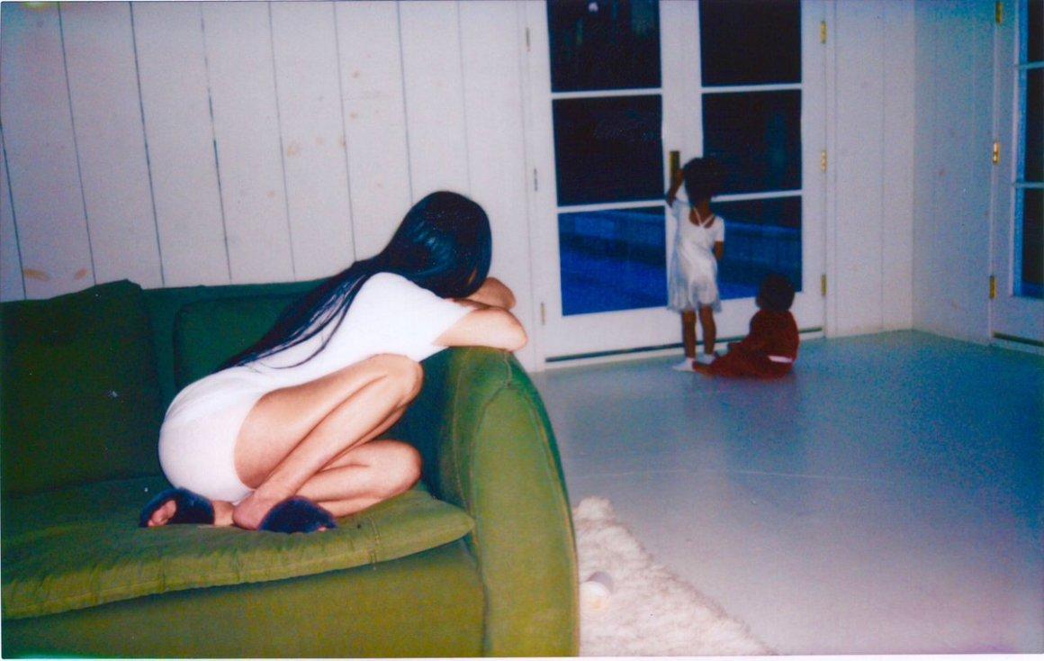 Kim Kardashian West with her two children. Credit: Twitter