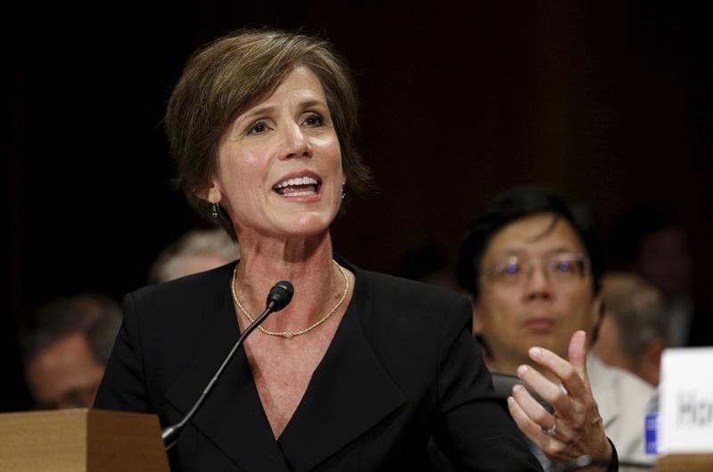 Sally Yates. Credit: Reuters/Kevin Lamarque