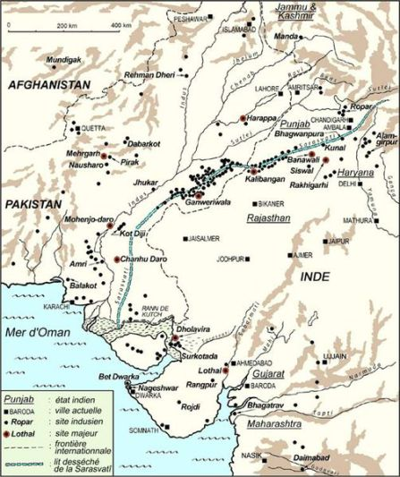 A french map under showing the expanse of the Indus Valley civilisation. Courtesy: Aashima Dogra