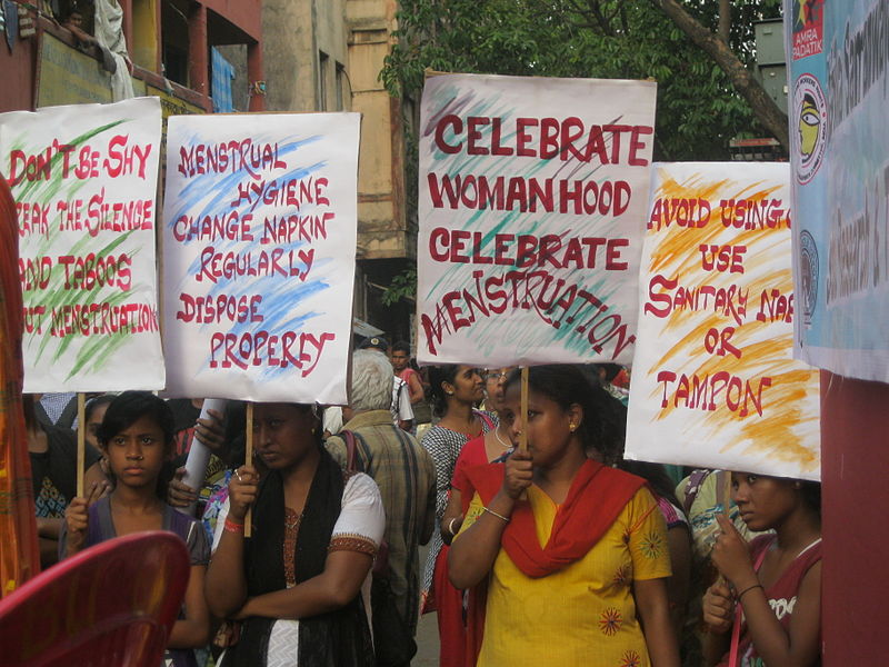 Celebration of Menstrual Hygiene Day in Amra Padatik, India. Credit: Wikimedia Commons