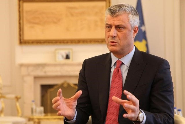 Kosovo's President Hashim Thaci gives an interview for REUTERS in his office in Kosovo's capital Pristina, January 16, 2017. REUTERS/Hazir Reka/File Photo