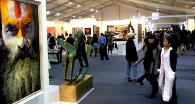 Visitors at the India Art Fair. Courtesy: Riding the Elephant