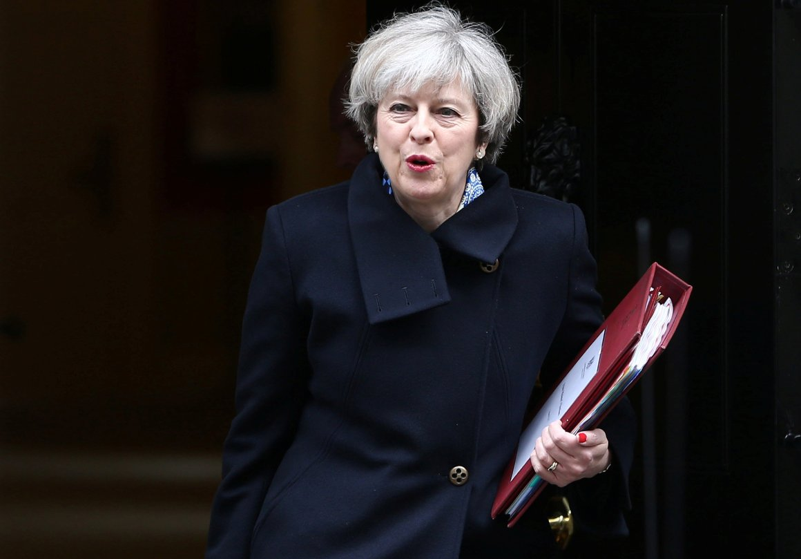 Britain's Prime Minister Theresa May leaves Downing Street in London, Britain March 1, 2017. Credit: Reuters/Neil Hall/File Photo