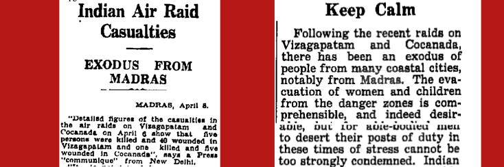 Times of India, April 8 & April 10, 1942