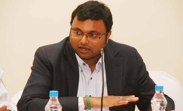 Kurti Chidambaram, son of former finance minister P. Chidambaram. Credit: PTI/Files
