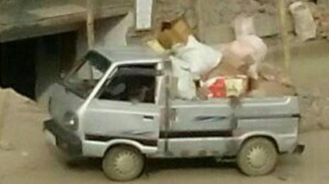Neingupe Marhu's minivan. Credit: By special arrangement