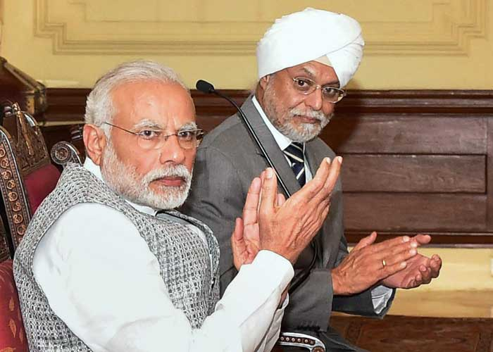 Prime Minister Narendra Modi and Chief Justice J.S. Khehar at a book release function. Credit: RSTV